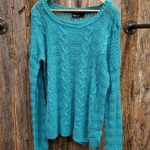 Allen B. By Allen Schwartz Sweaters - Allen B green knit sweater